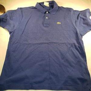 Men's Lacoste Polo Blue Size 6 Large